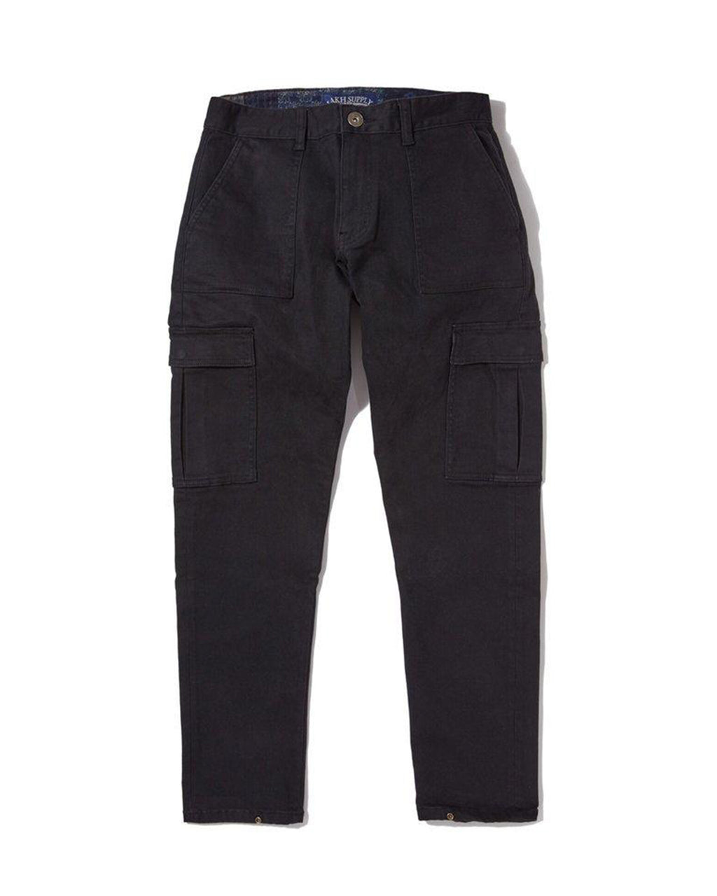 Button Pants - Fatigue Cargo Black