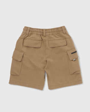 Knitted Cargo Shorts - Olive
