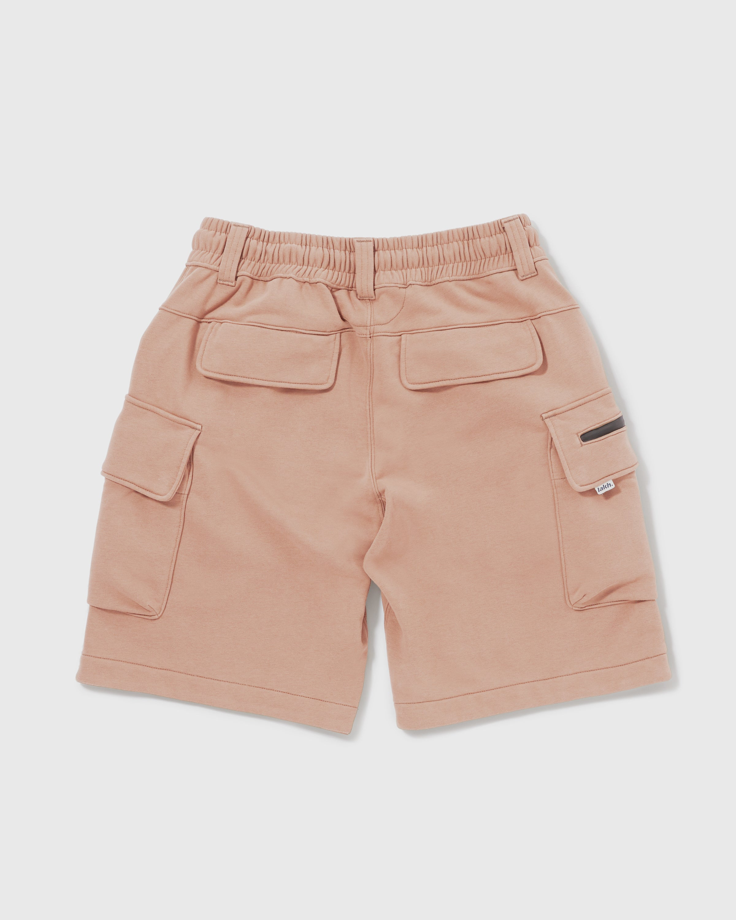 Knitted Cargo Shorts - Pale Pink