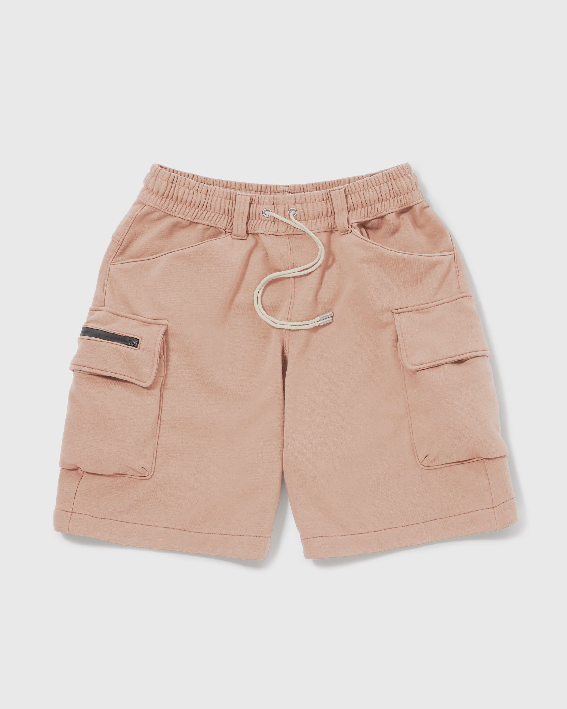 Knitted Cargo Shorts - Coral