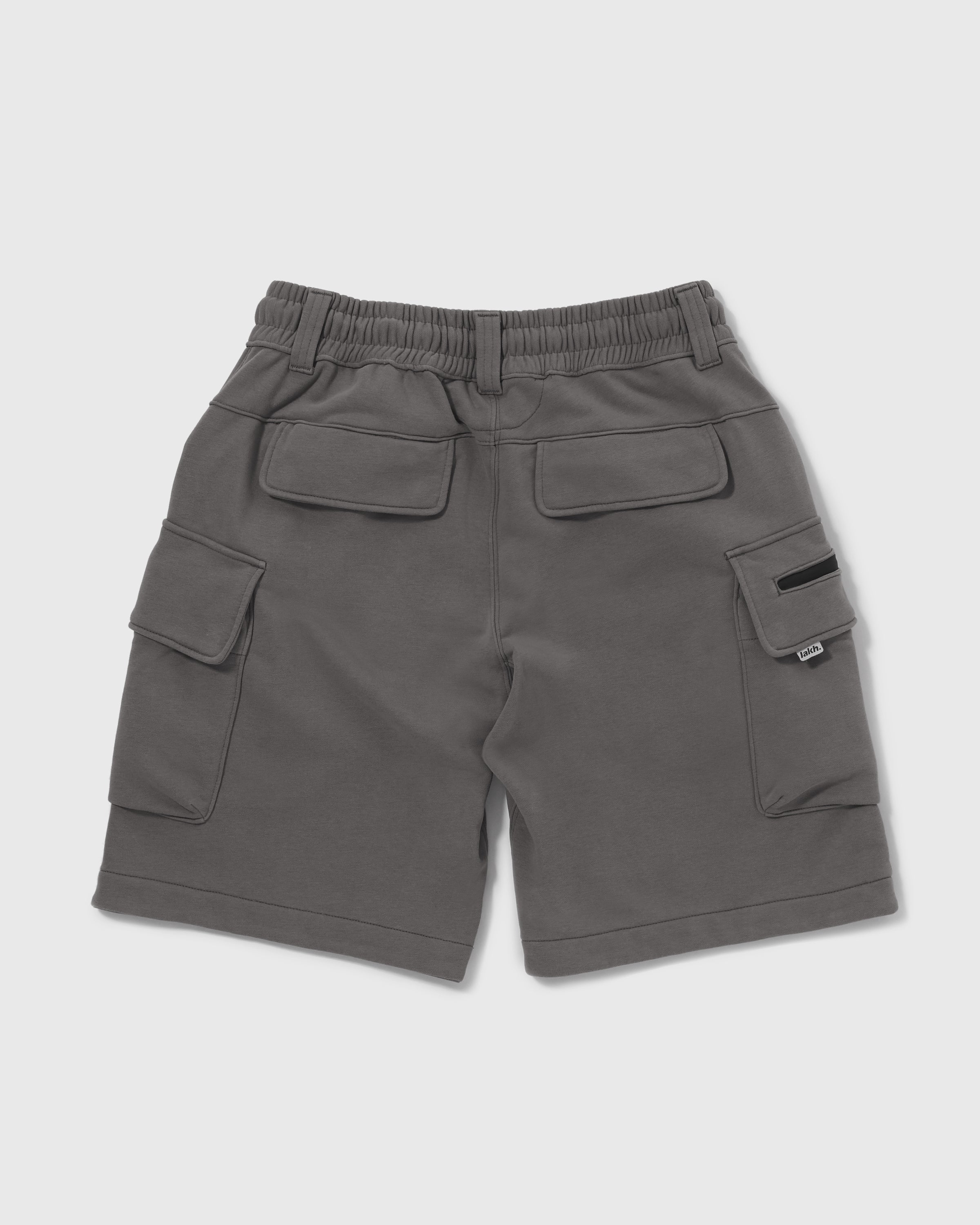Knitted Cargo Shorts - Dark Grey