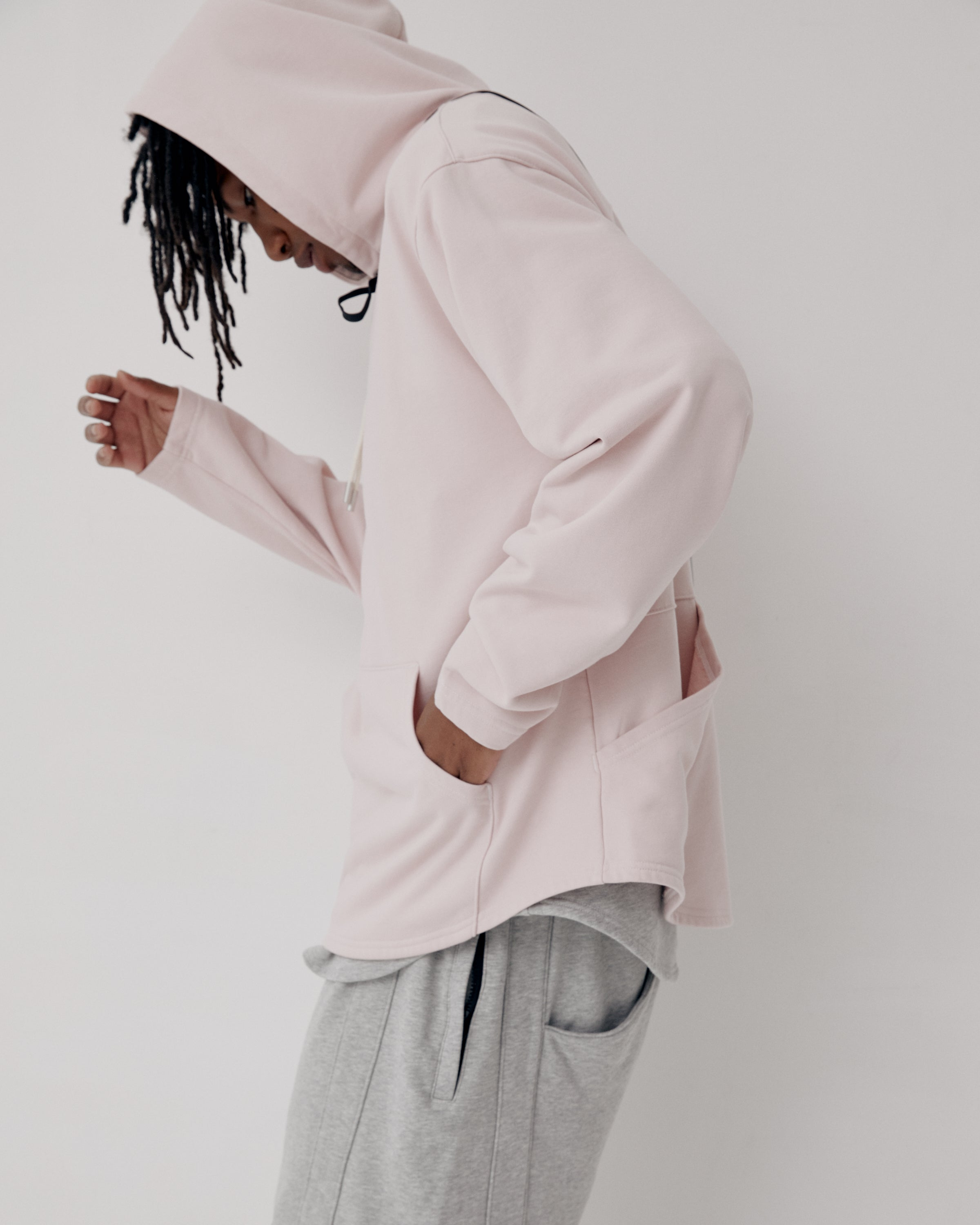 Knitted Hoodie - Light Grey