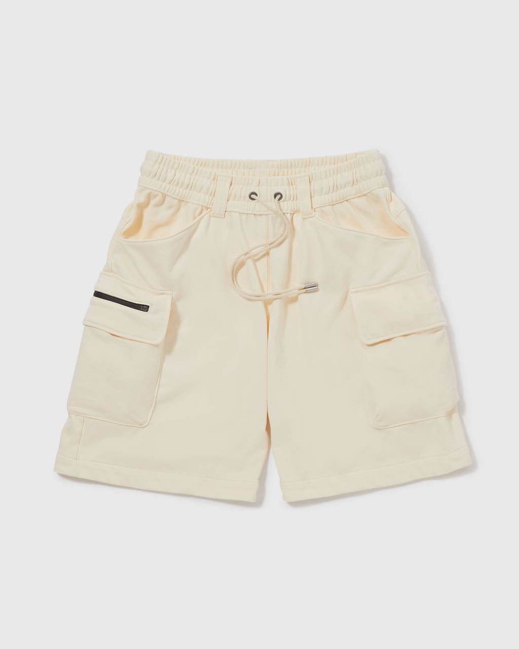 Knitted Cargo Shorts - Tan