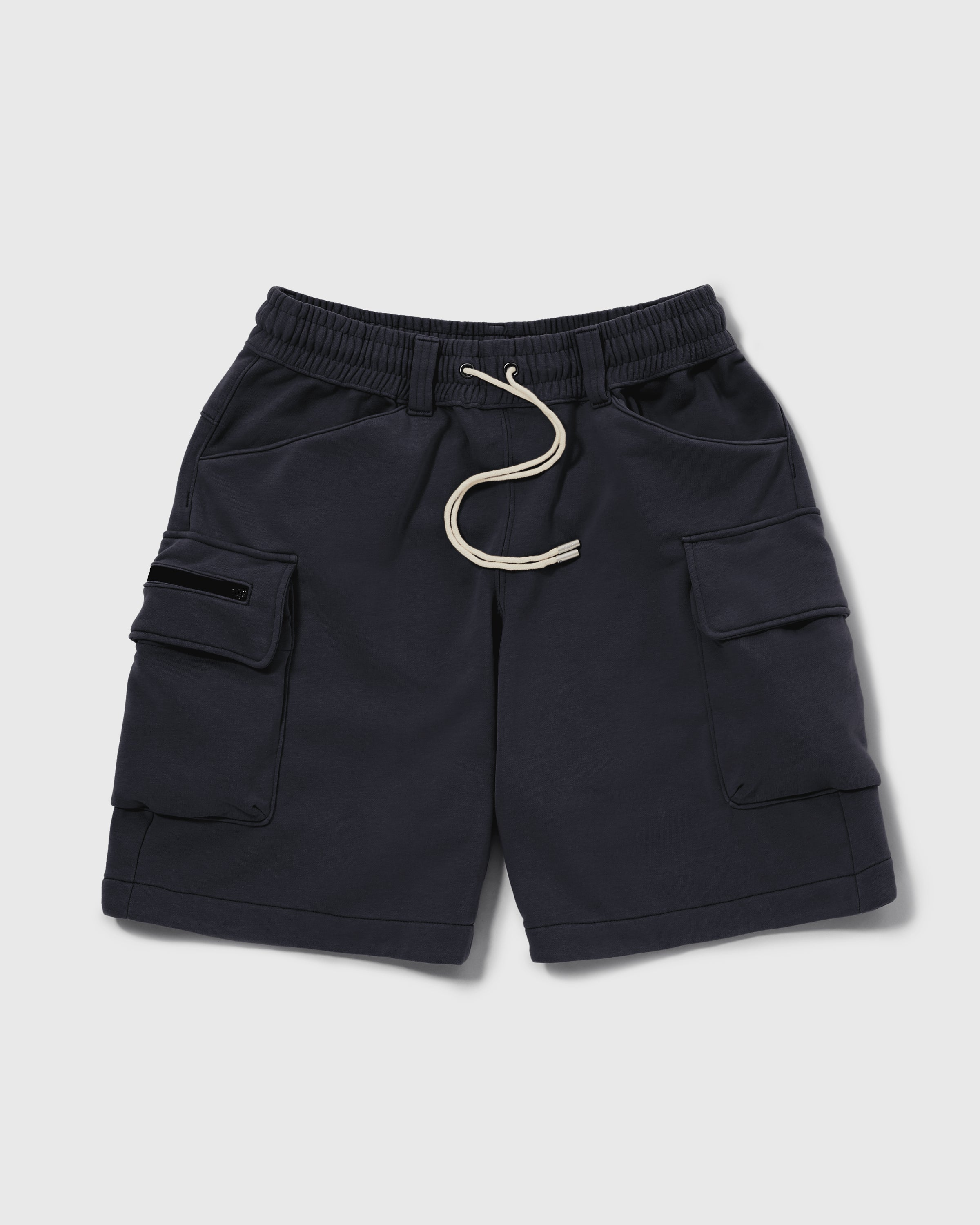 Knitted Cargo Shorts - Navy