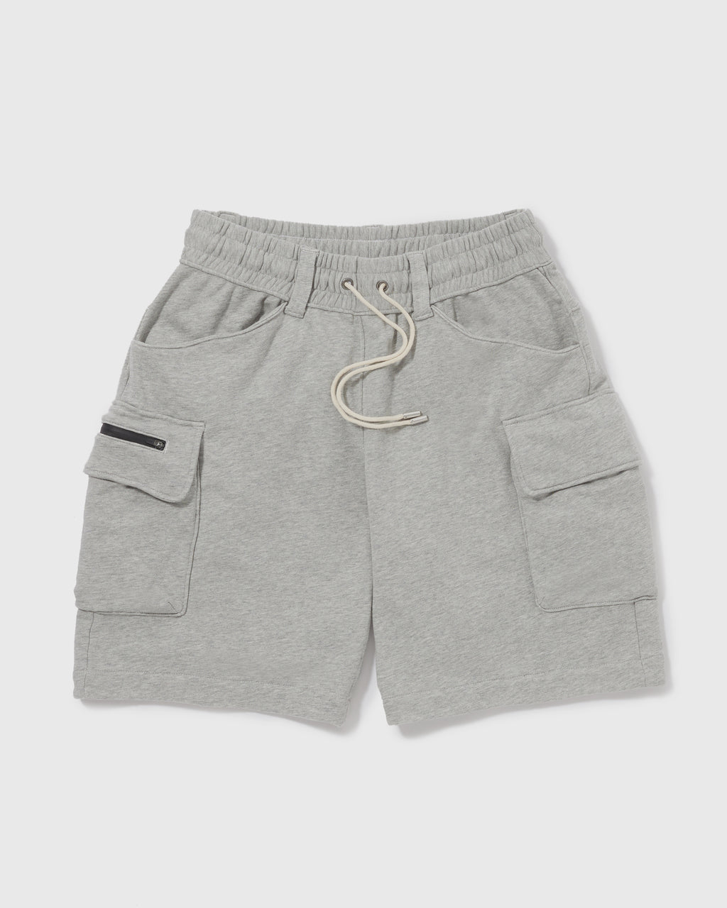 Knitted Cargo Shorts - Light Grey