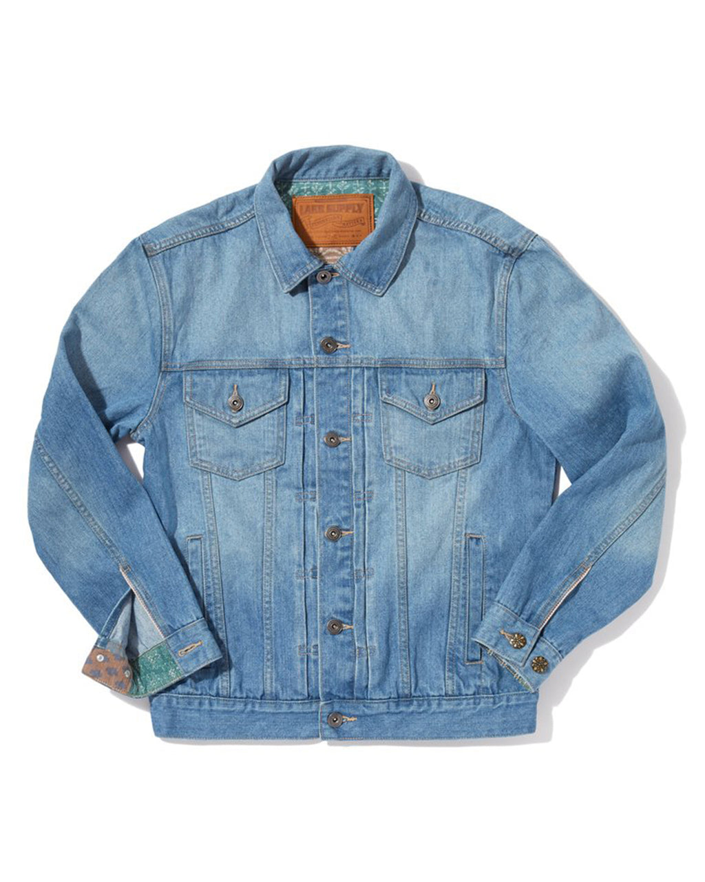 Classic Denim Jacket - Patchwork Light Blue