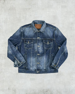 Classic Denim Jacket - Patchwork Sky Blue