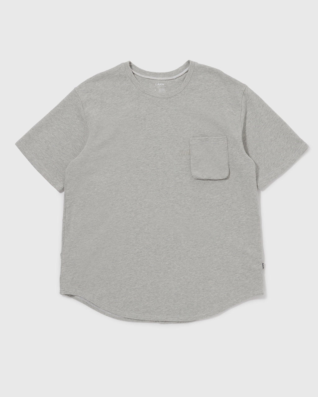 Knitted Utility Tee - Light Grey