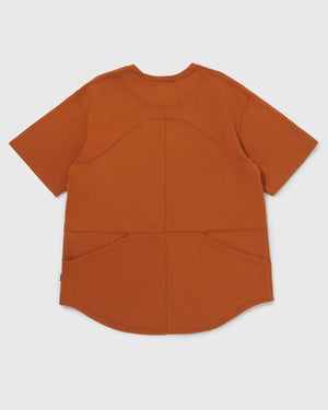 Knitted Utility Tee - Dusty Orange