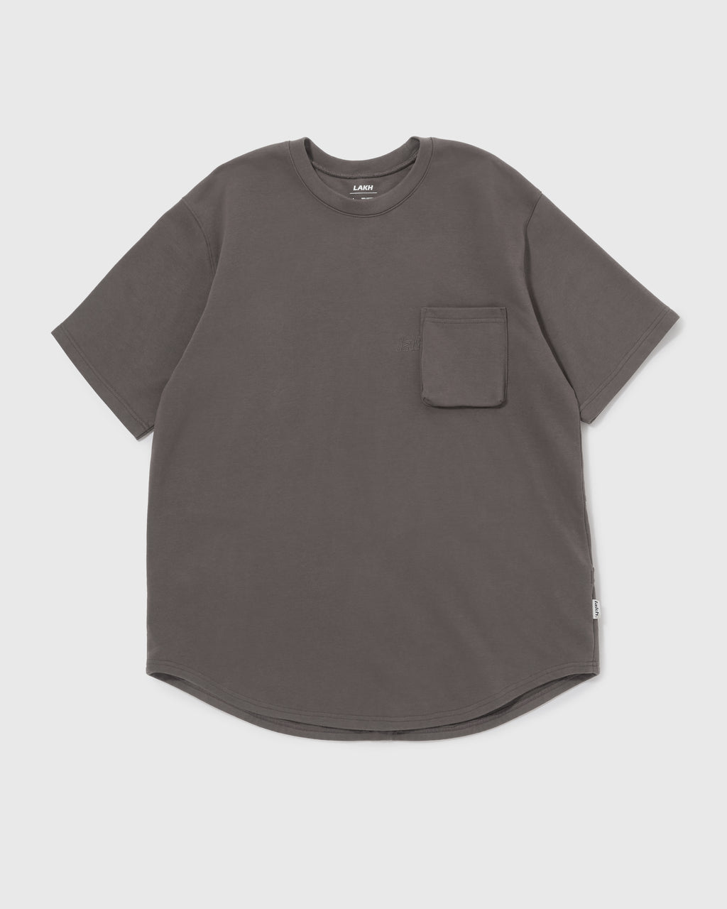 Knitted Utility Tee - Dark Grey