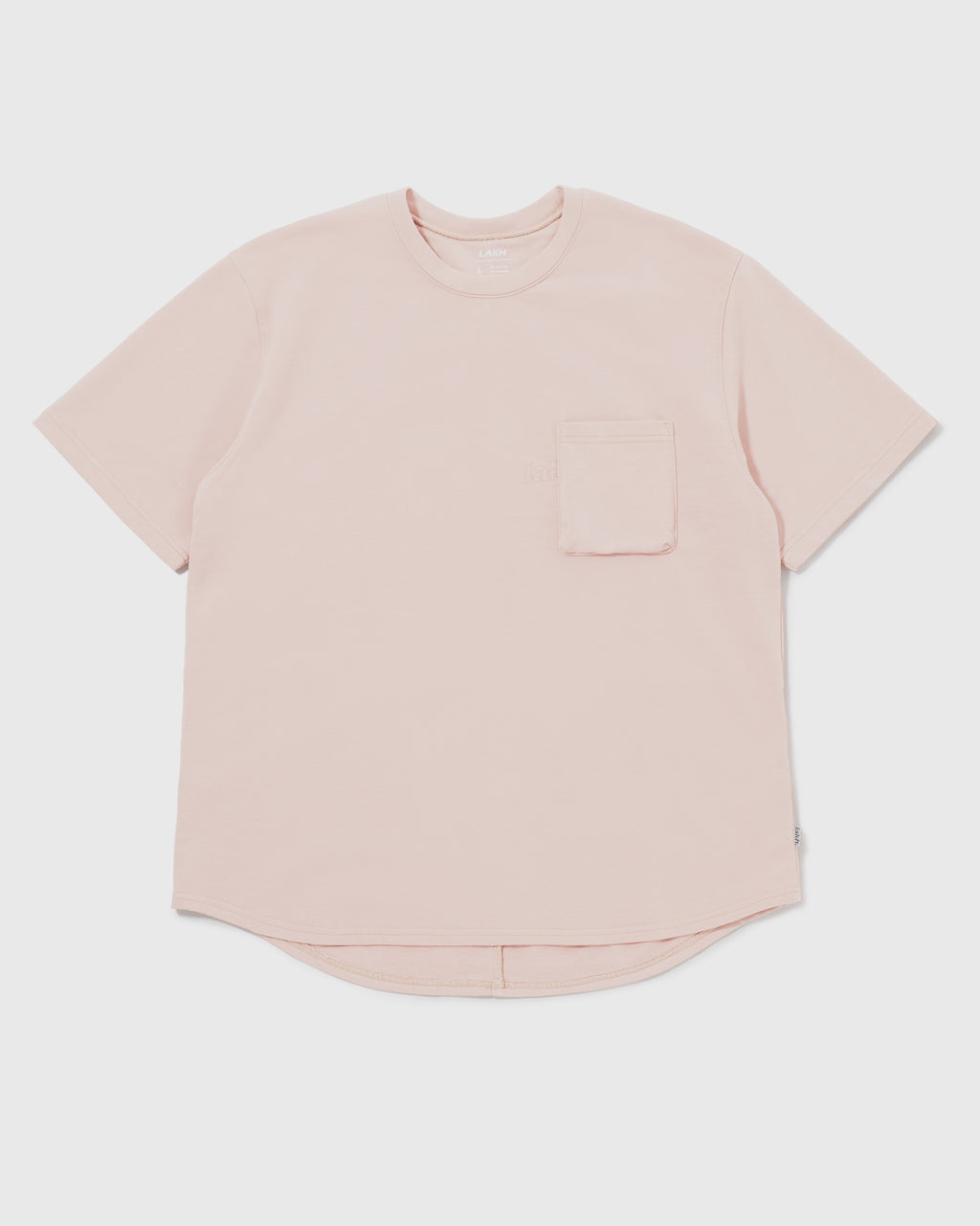 Knitted Utility Tee - Pale Pink
