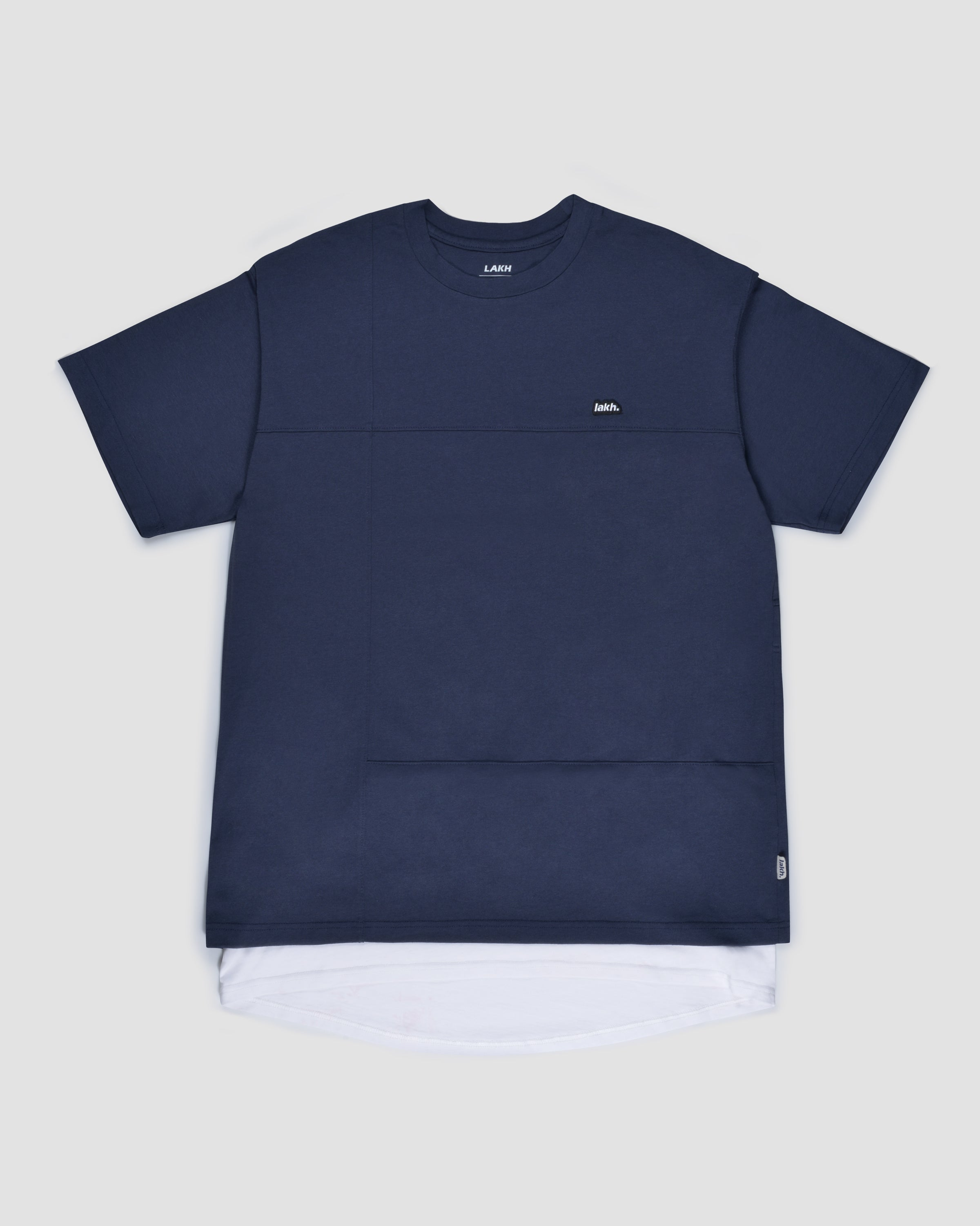 Layers Patch Tee - Navy