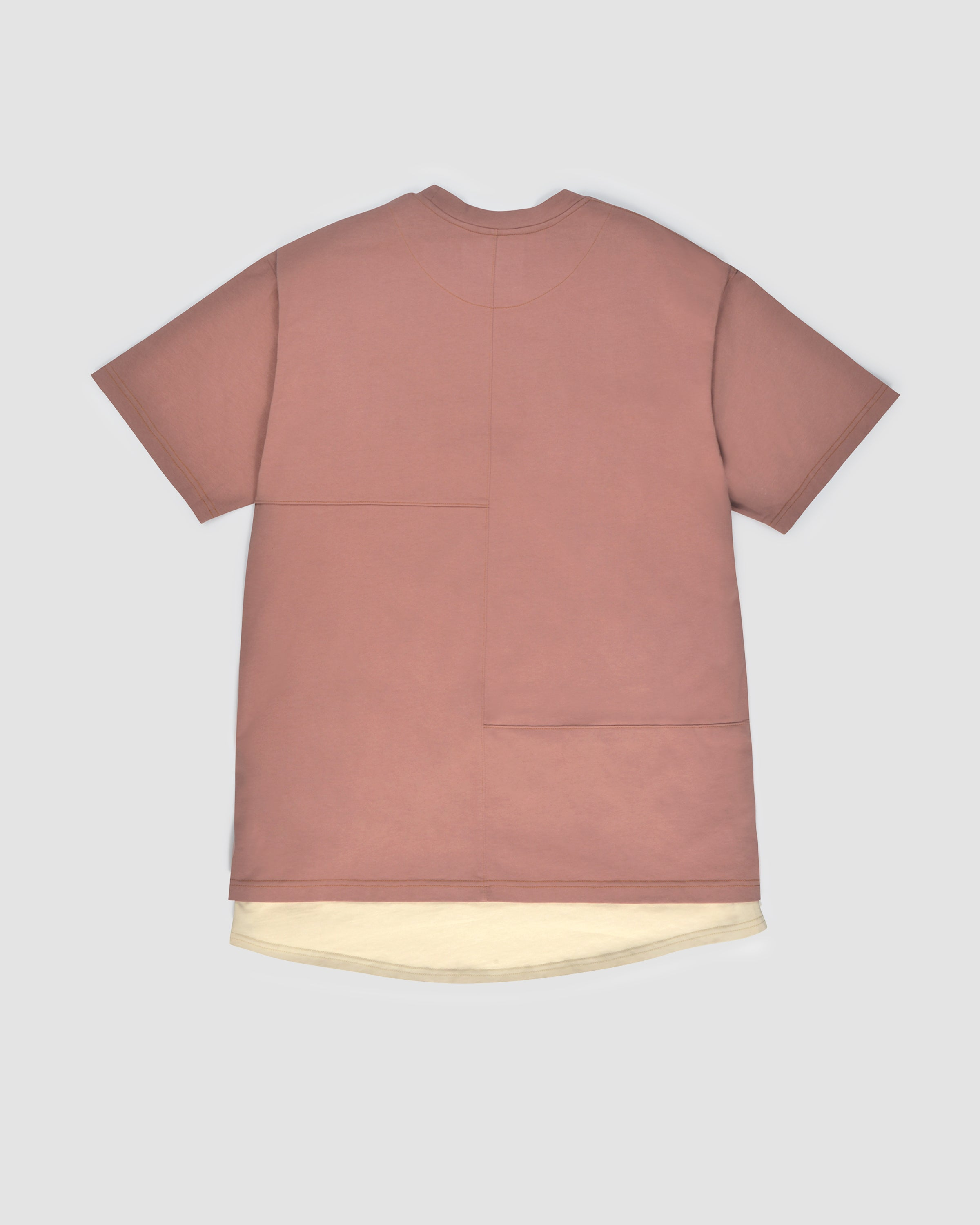 Layers Patch Tee - Rose