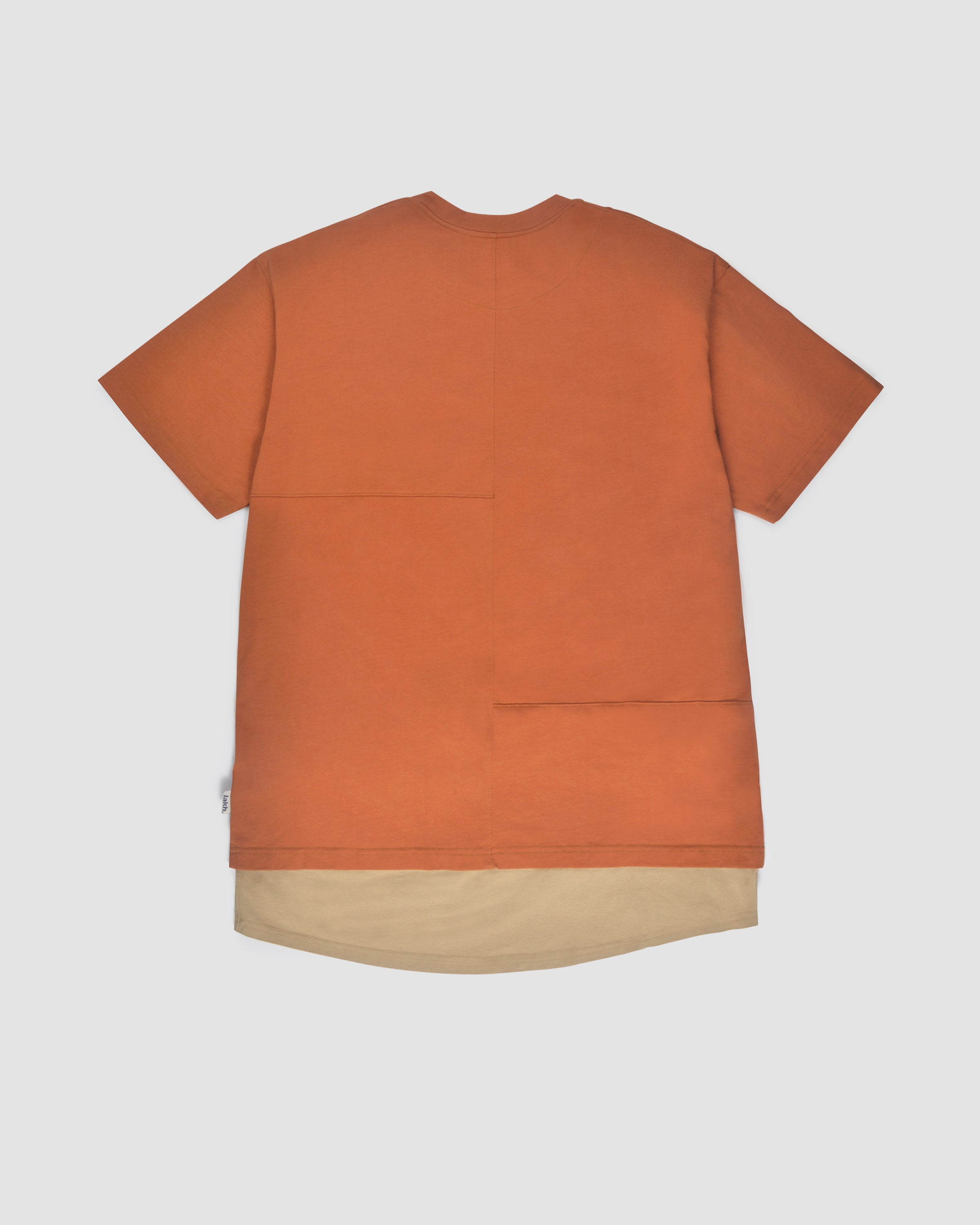 Layers Patch Tee - Orange