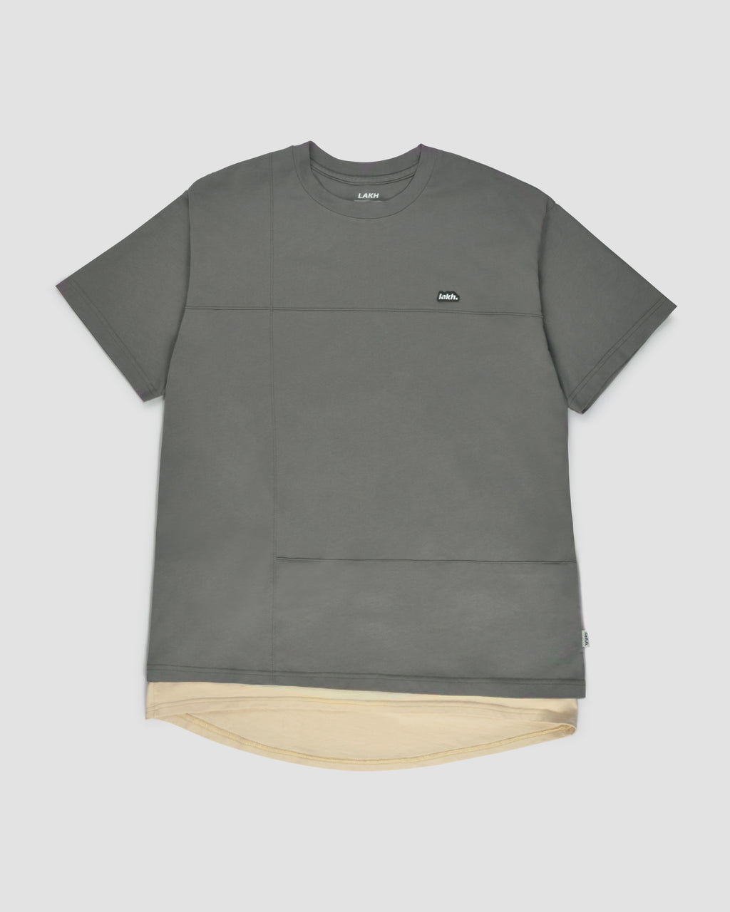 Layers Patch Tee - Grey
