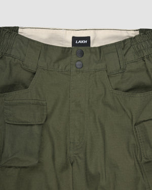 Ten Pockets Cargo Shorts - Ripstop Olive