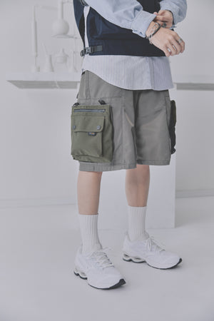 Techwear Shorts - Olive