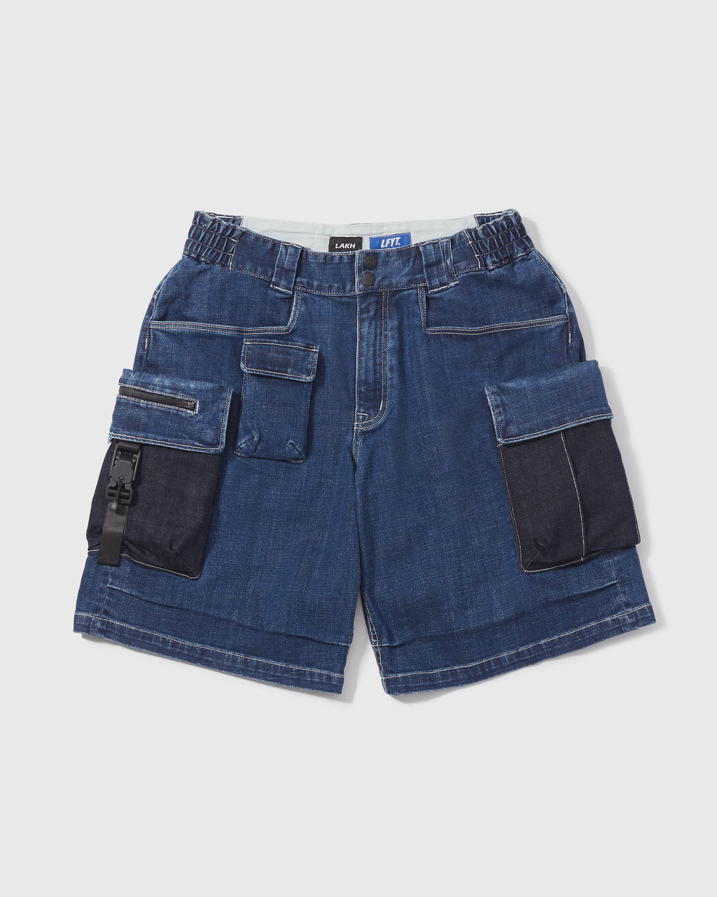 LAKH X LFYT Ten Pockets Cargo Shorts - Sky Blue