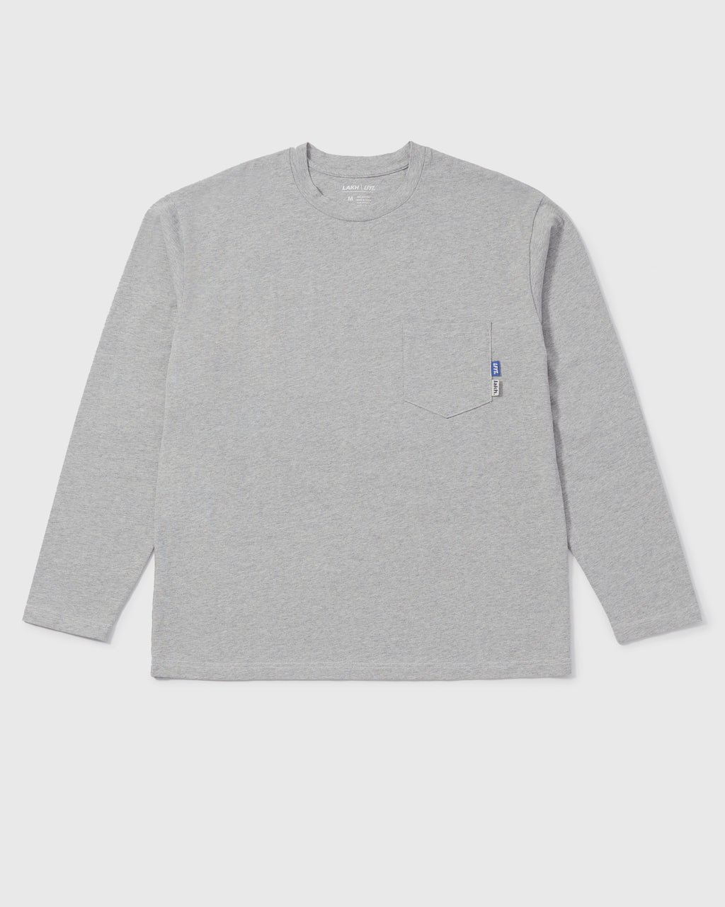 LAKH X LFYT Pocket Long Tee - Light Grey