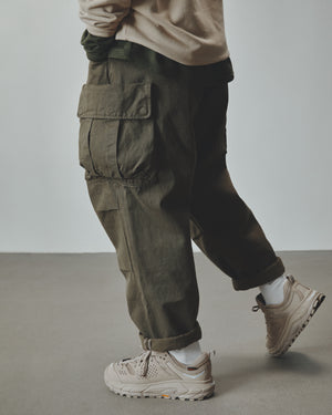 Ten Pockets Cargo Pants - Herringbone Olive