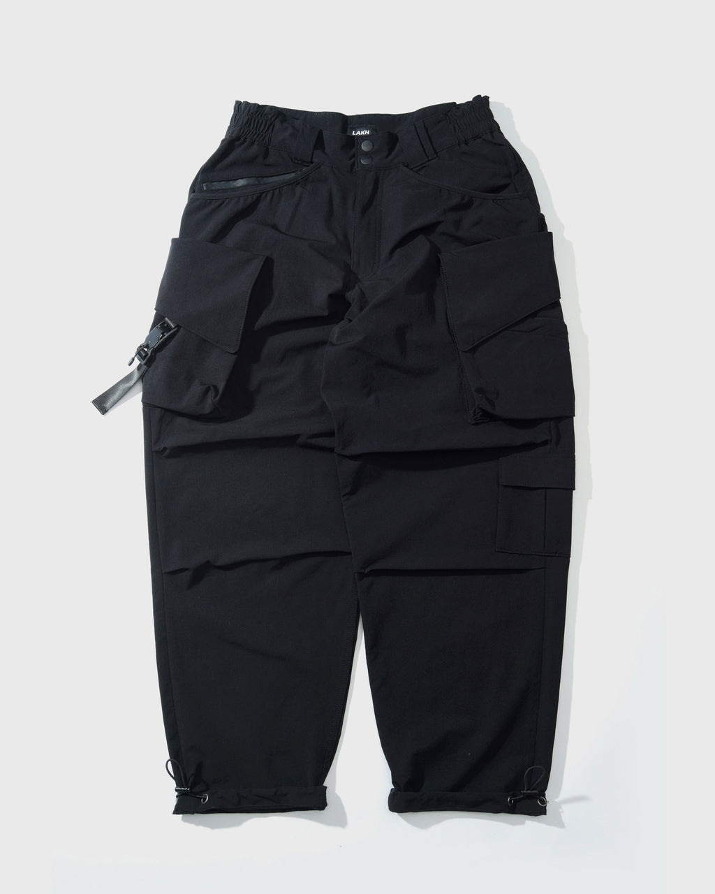 Twelve Pockets Cargo Pants - Nylon Black