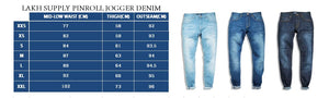 Pinroll Jogger Jeans - Classic Sky Blue