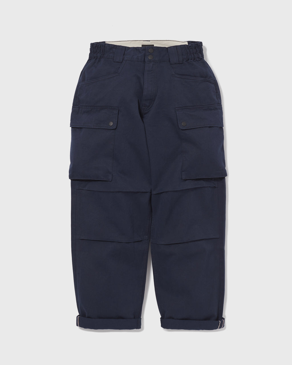 Wide Cargo Pants Chino - Navy