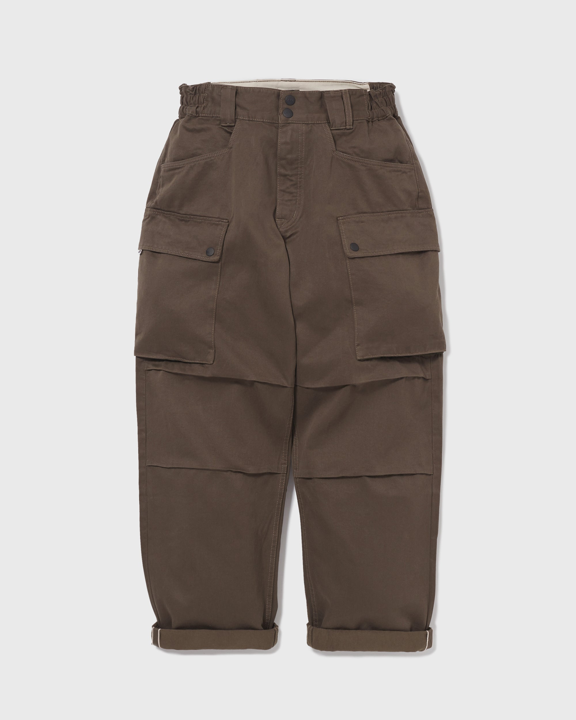 Wide Cargo Pants Chino - Olive