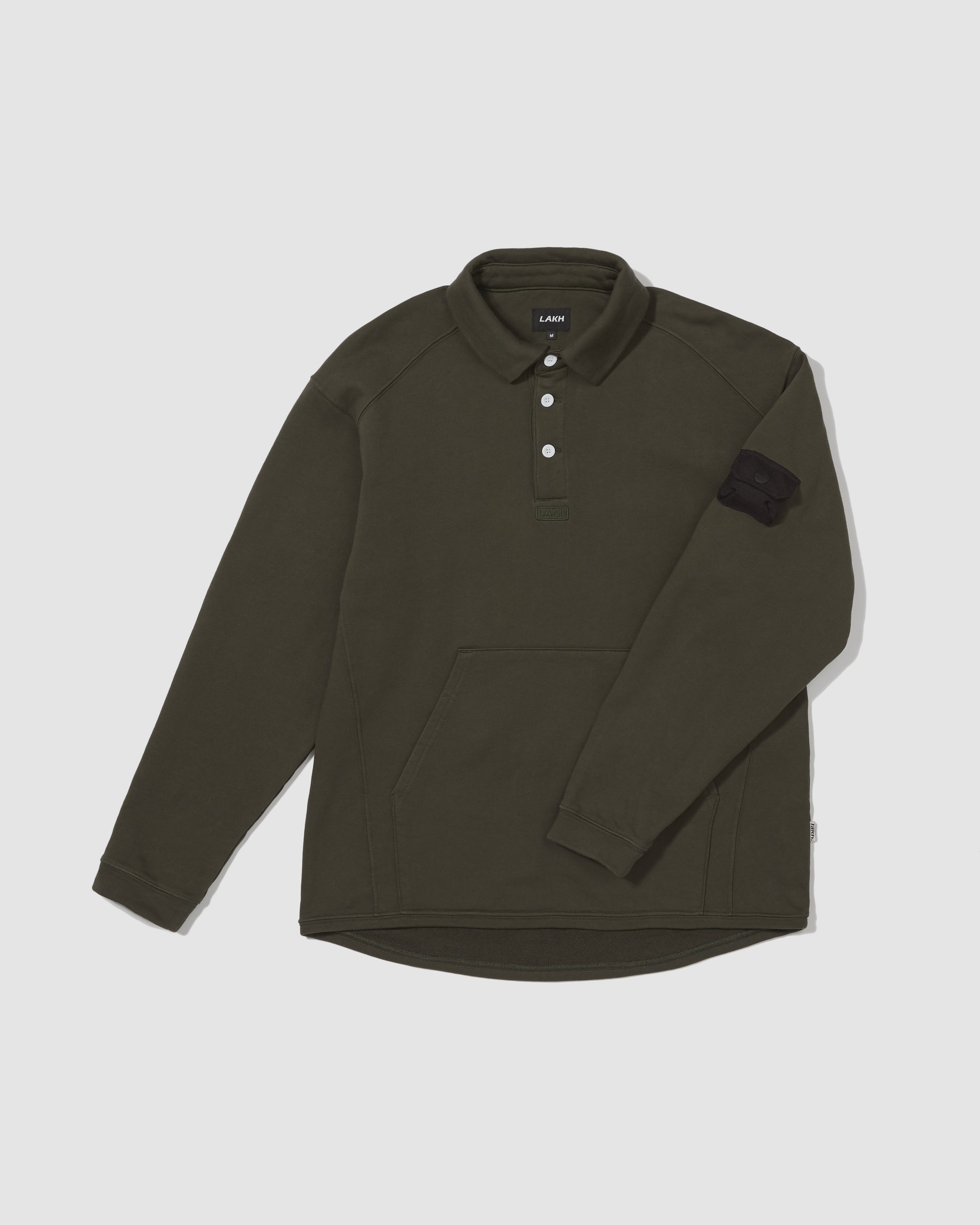 Polo Long Tee - Dark Green
