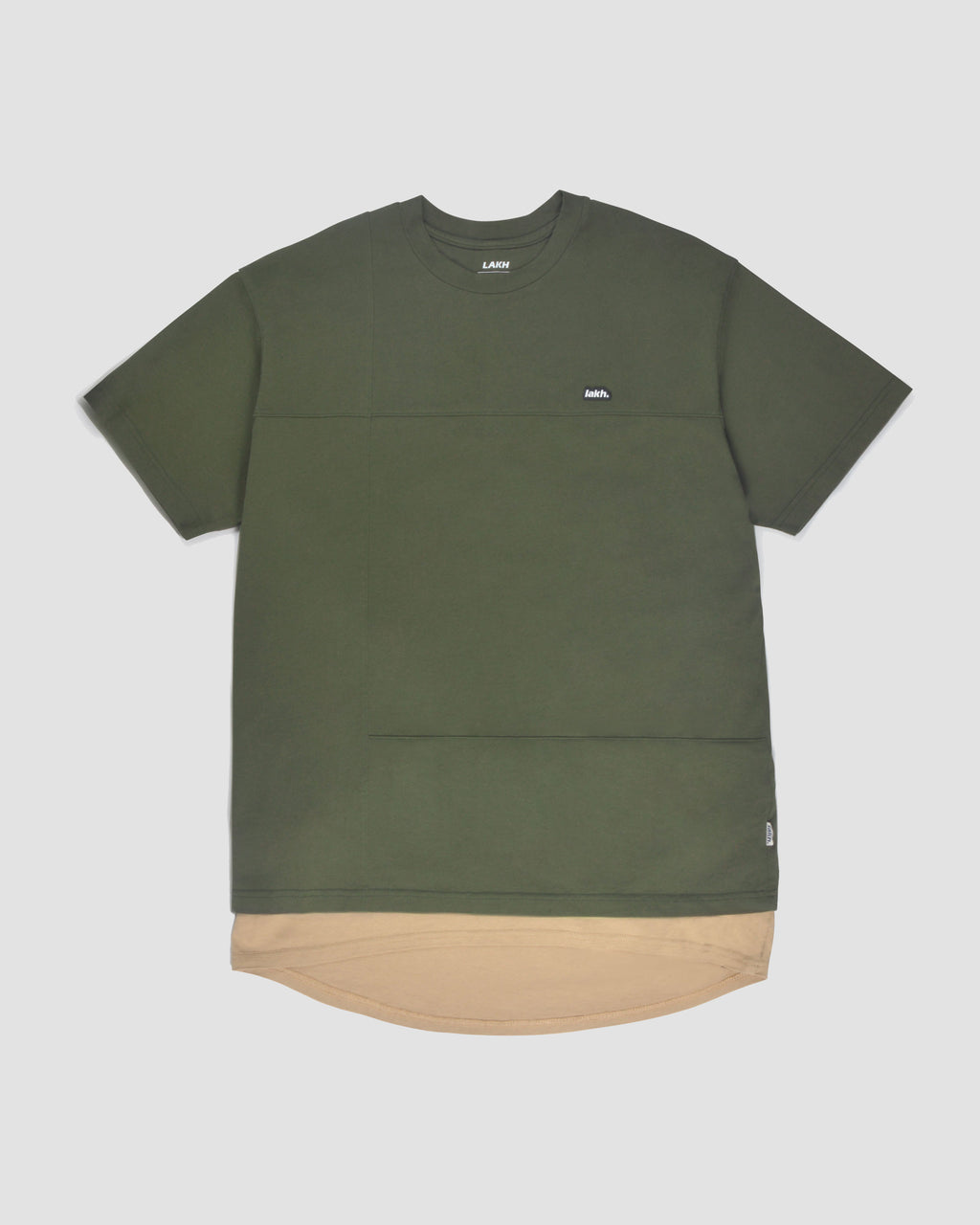 Layers Patch Tee - Olive