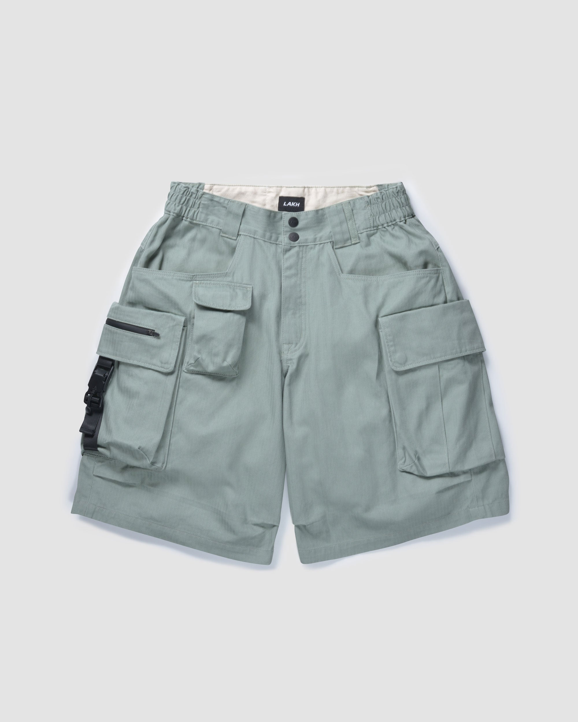Ten Pockets Cargo Shorts - Herringbone Olive