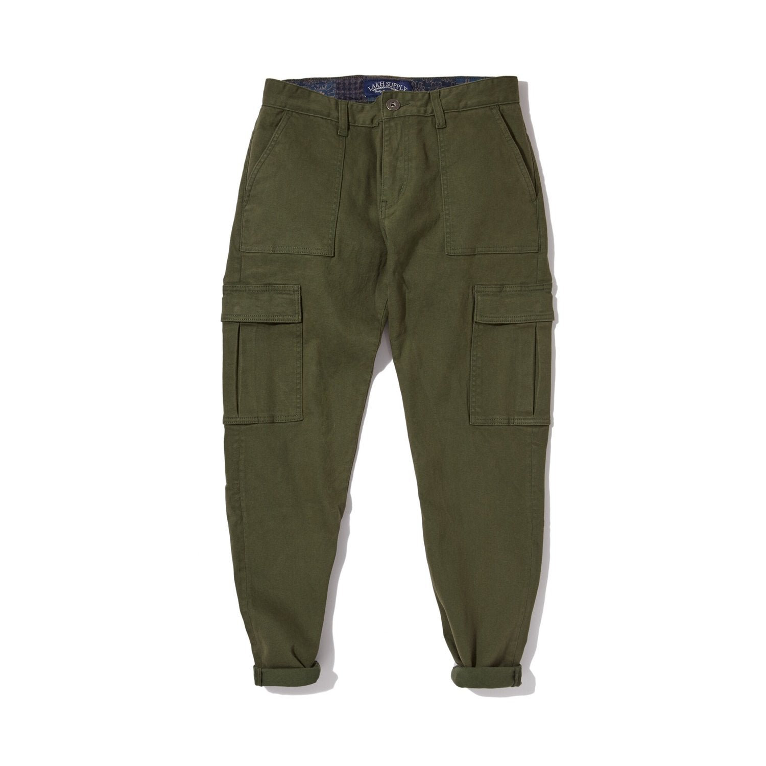 Button Pants - Fatigue Cargo Olive