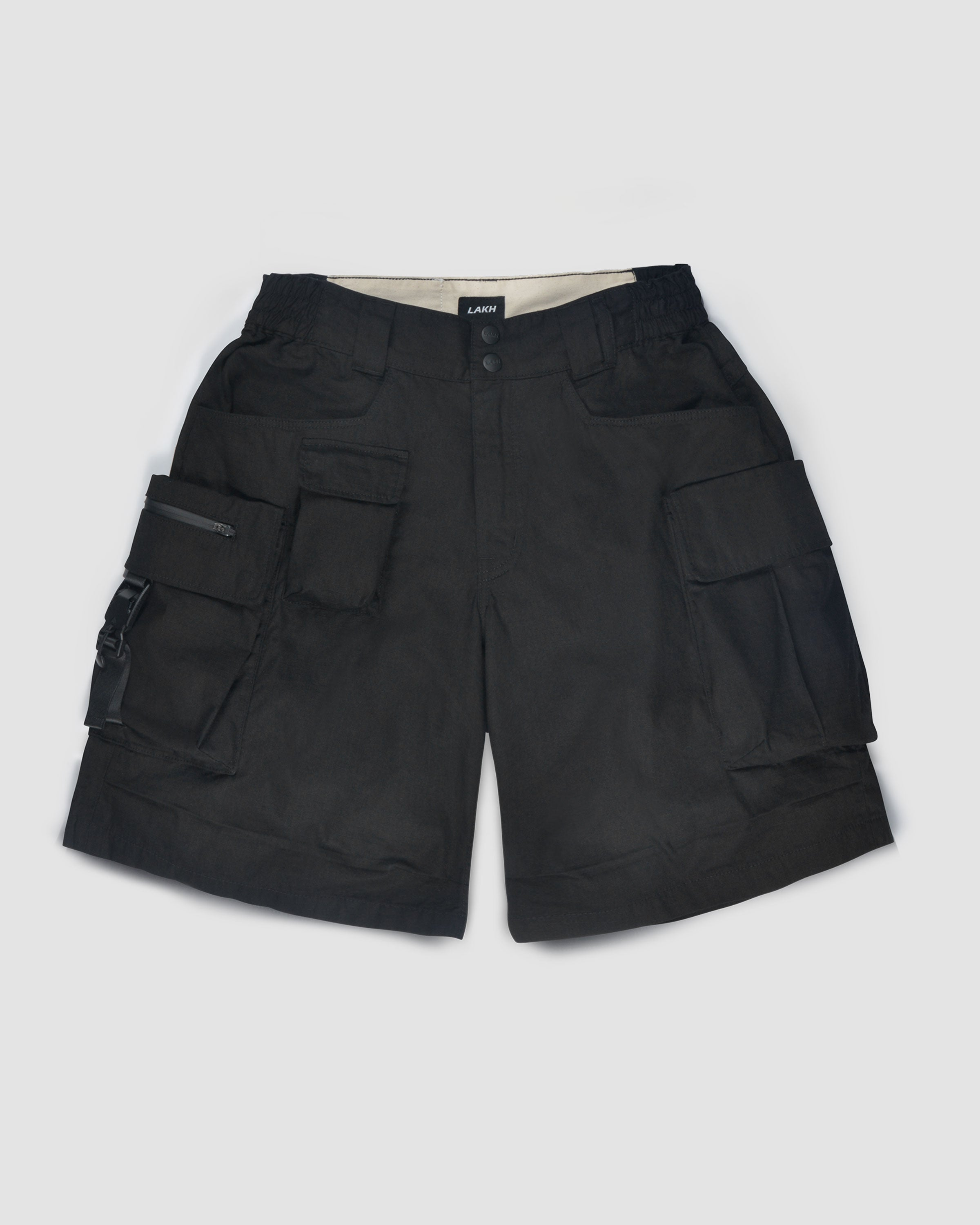 Ten Pockets Cargo Shorts - Ripstop Black
