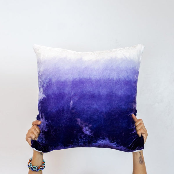 Purple Shades of Velvet Pillow