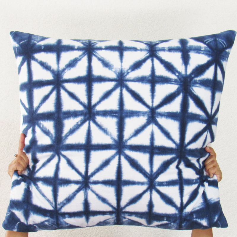 Moody Blues Check Pillow