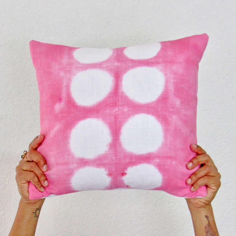 Pretty in Pink Polka Dots Pillow