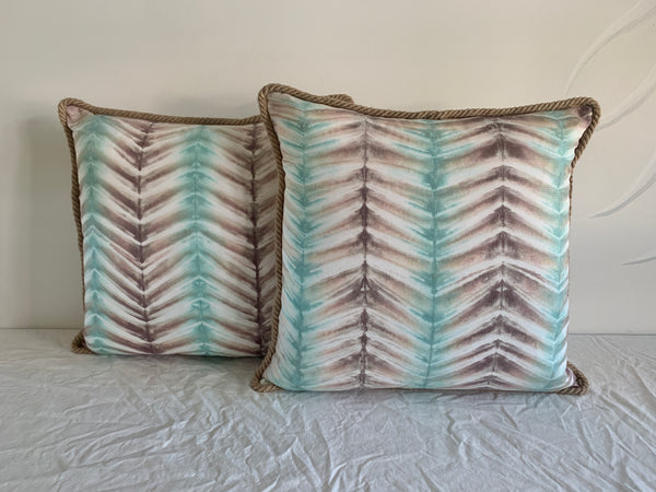 Florida Fall Neutral Chevron Pillow