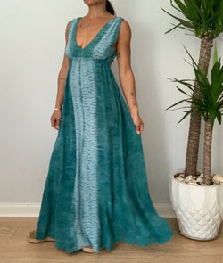 Tie Back Maxi Dress- Silk