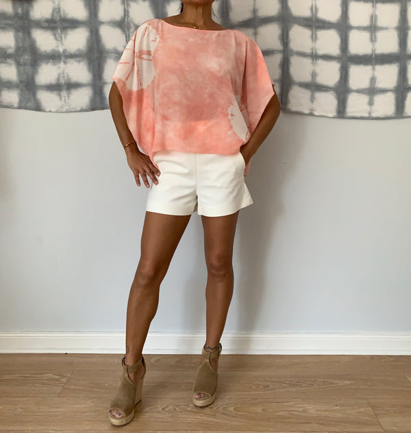 Blush Silk Sun Shirt