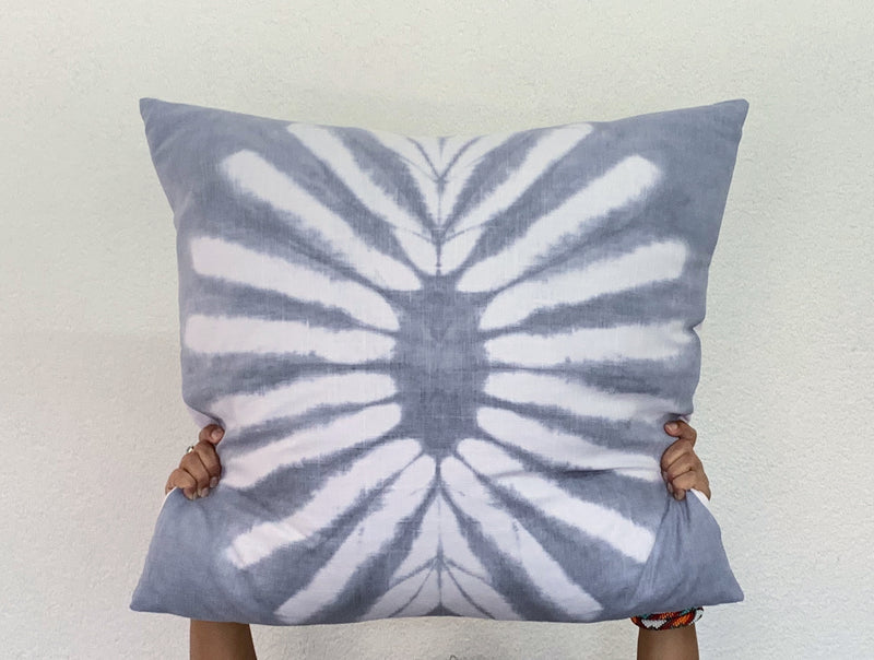 Silver Sunburst Pillow