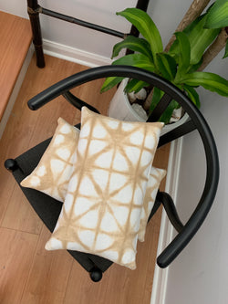 Tan Star Lumbar Pillow