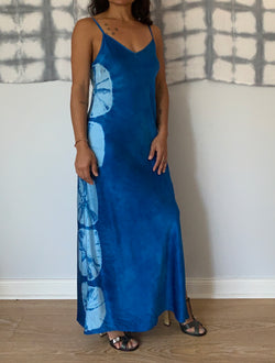 Blue Silk Slipdress