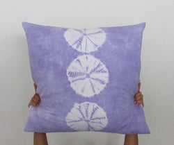 Lavender Sand-dollar Stripe Pillow