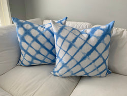 Ice Blue Seashell Pillow