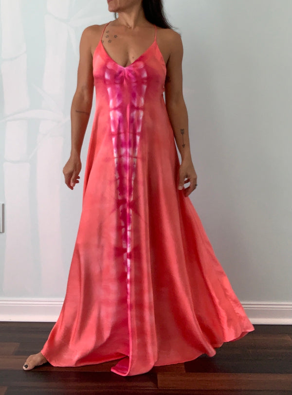 Satin Silk Maxi Dress