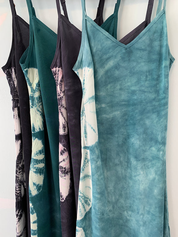 Custom Hand-dyed Silk Slip Dress