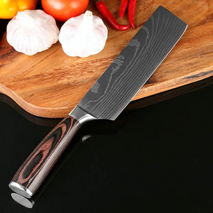 Xituo 8inch Japanese Kitchen Knives Imitation Damascus Pattern