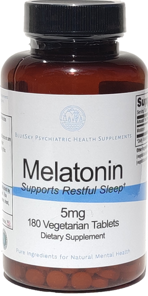 Melatonin 5mg - Supports Rest - 180 Vegetarian Tablets