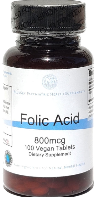 Folic Acid 800mcg - 100 Vegan Tablets