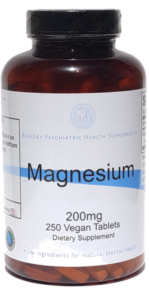 Magnesium 200mg - 200 Vegan Tablets